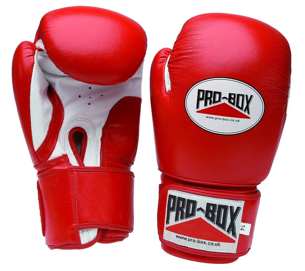red sparring glove new